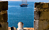 Ancient Canon and Modern Sailboat, Bodrum, Turkey