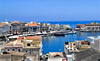 Harbor scene, island of Syros, Greece